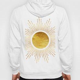 Golden Sunburst Starburst Noir Hoody
