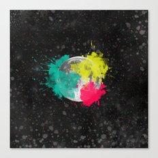 Moon + Neon Canvas Print