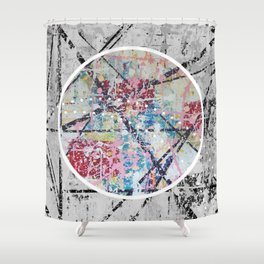 Crossroads No.3 - black and white Shower Curtain