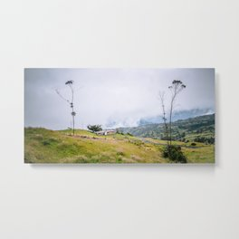 Colombian Farm Metal Print
