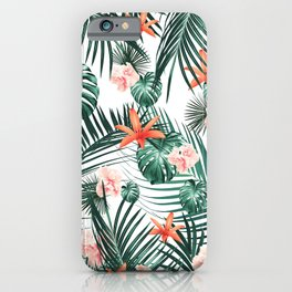 Tropical Flowers & Leaves Paradise #2 #tropical #decor #art #society6 iPhone Case
