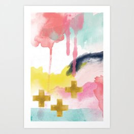 Three Wisemen Abstract Art Print
