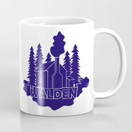 Walden - Henry David Thoreau (Blue version) Coffee Mug