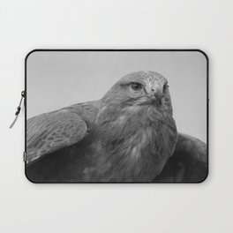 Common Buzzard BW Laptop Sleeve