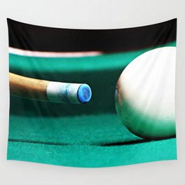 Pool Table-Green Wall Tapestry