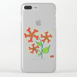 Doxie Flower Clear iPhone Case