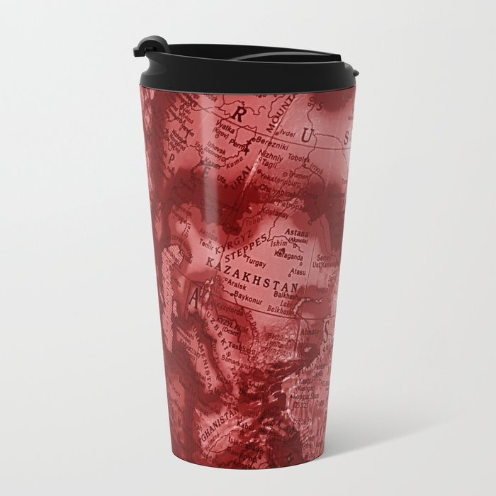 Russia in Red Metal Travel Mug
