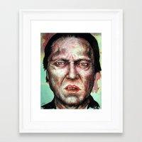 christopher walken Framed Art Prints featuring Christopher Walken by Chuck Hodi