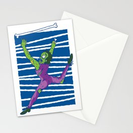 Zombie juggles with bone Stationery Cards