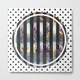 Polarised - small triangle graphic Metal Print