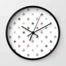 4 plants Wall Clock