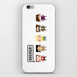 The Big Bang Theory Pixel Characters iPhone Skin