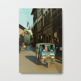 Busy Florence Streets Metal Print