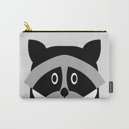 Racoon Bw Carry-All Pouch