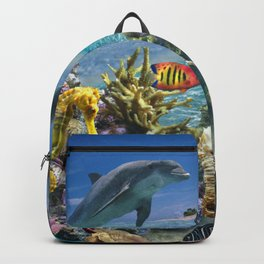 Coral Reef and Dolphins Backpack