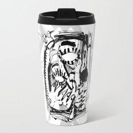 The Scholar - b&w Travel Mug