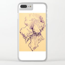 Beards on my mind Clear iPhone Case