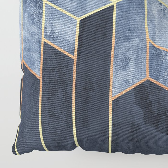 Soft Blue Hexagons Floor Pillow