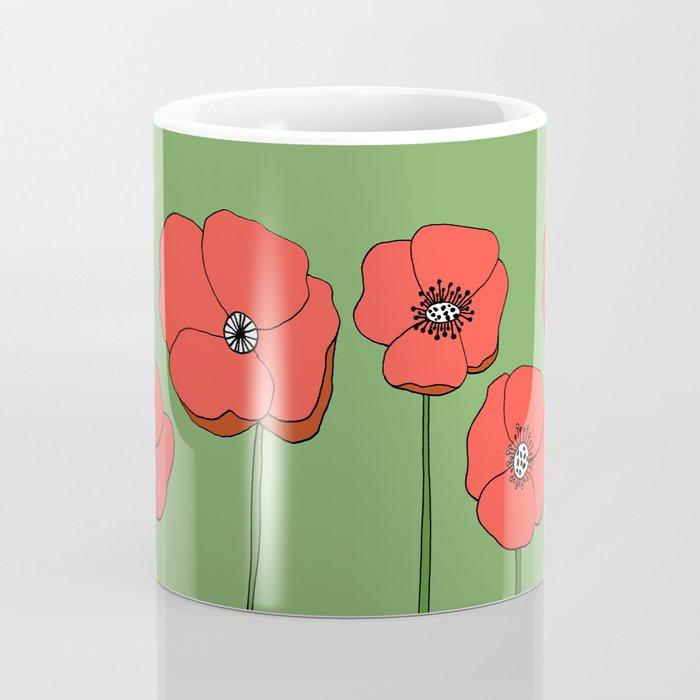Red Poppies by Emma Freeman Designs Coffee Mug
