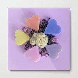 color soap rose and natural spon Metal Print