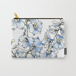 Blue Delphinium Flowers Tasche