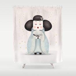 Silent beauty Shower Curtain