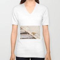 sparrow V-neck T-shirts featuring sparrow by Marcel Derweduwen