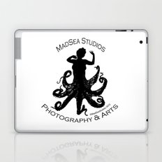 MadSea Nymph, black on white Laptop & iPad Skin