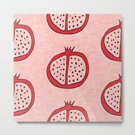 Pop Mod Pomegranate Pink Metal Print