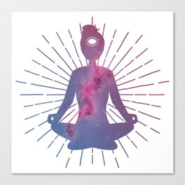 Open Your Third Eye To The Universe Canvas Print