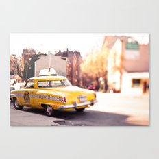 it was a yellow cab... Canvas Print