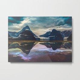 New Zealand Mountains Metal Print