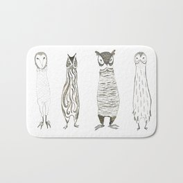 Owl About Owls Bath Mat