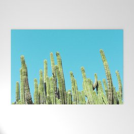 Desert Cactus Reaching for the Blue Sky Welcome Mat