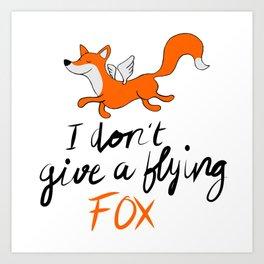 Flying Fox Art Print