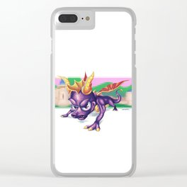 Spyro - Retro Games Clear iPhone Case