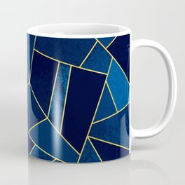 Blue stone with yellow lines Coffee Mug