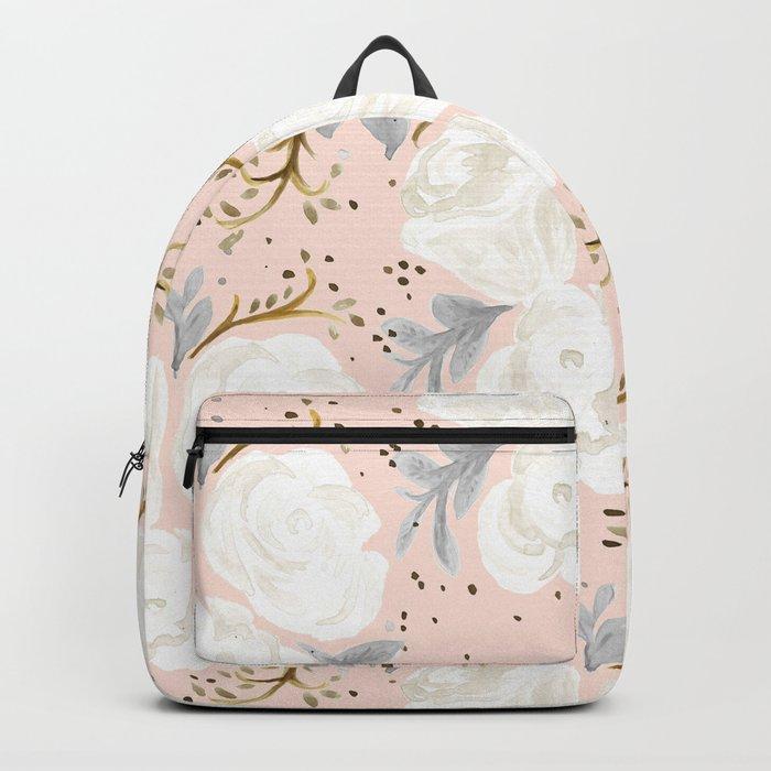 Sparking Blush Floral Backpack