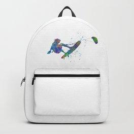 kitesurfing in watercolor Backpack