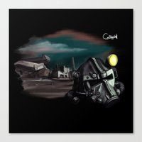 fallout 3 Canvas Prints featuring Lost Brother : Fallout 3 by OneBlueWolf