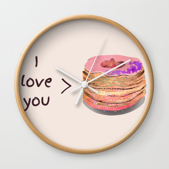 I love you more than cronuts Wall Clock