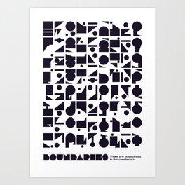 Boundaries Art Print
