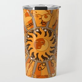 Harley and J Zodiac Orange Travel Mug