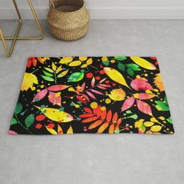 Multi Color Leaves Rug