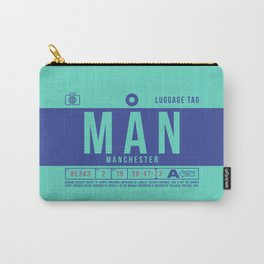 Baggage Tag B - MAN Manchester England UK Carry-All Pouch
