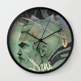 The traveler dreams Wall Clock