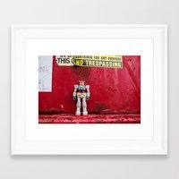 gundam Framed Art Prints featuring Gundam by Space Out