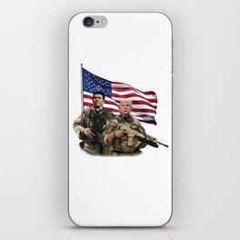 Presidential Soldiers: Ronald Reagan & Donald Trump USA Flag iPhone Skin