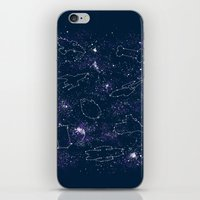 ships iPhone & iPod Skins featuring Star Ships by Mandrie