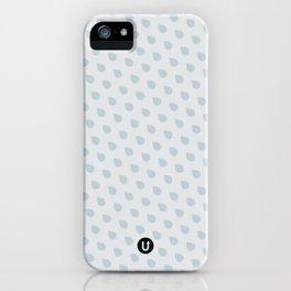U13: grey droplet iPhone Case